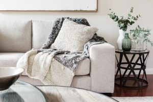 Textured,Layers,Interior,Styling,Of,Cushion,Sofa,And,Throw,In